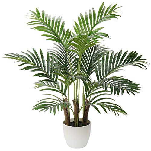 Briful Artificial Areca Palm Tree Plant 28.5' Fake Plant Tree with 13 Trunks Faux Tree Faux Tropical...