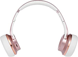 SODO MH5 2 in 1 Bluetooth Headphones Twist-out Speaker Bluetooth 4.2 Over-ear Headset 3.5mm Wired Earphone AUX IN Hands-free with Microphone Rose Gold
