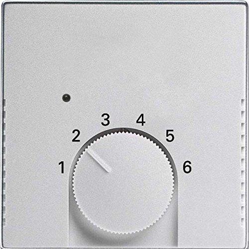 Busch-Jaeger Temperaturreglerabdeckung 1795 HK-83 alusilber Future linear Abdeckung/Bedienelement für Installationsschalterprogramme 4011395183359