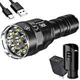 NITECORE TM9K 9500 Lumen 5000mah USB-C Quick Charge Rechargeable LED Flashlight, NTH10 Tactical Holster, and LumenTac Quick Charge QC3.0 Adapter
