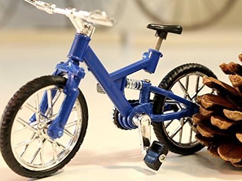 マウンテンバイク(MTB) 自転車ミニチュア 自転車模型 ブルー