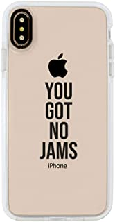 Ultra Slim iPhone Case - Silicone Protective Cover - Compatible for iPhone Xs Max - You Got No Jams - Funny Diss Jimin - Rm Iconic Quotes - Sassy - Savage - Black Flexible Soft TPU Cover Case