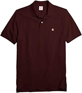 Brooks Brothers Mens Original Fit Mesh Cotton Performance Polo Shirt Bordeaux Red