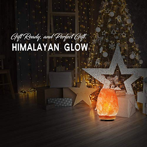 Himalayan Glow Natural Himalayan Salt Lamp, Crystal Salt Lamps,Air Purifier, Real Wood Base  with Dimmer Switch, Gift Lamp | 7-11 LBS