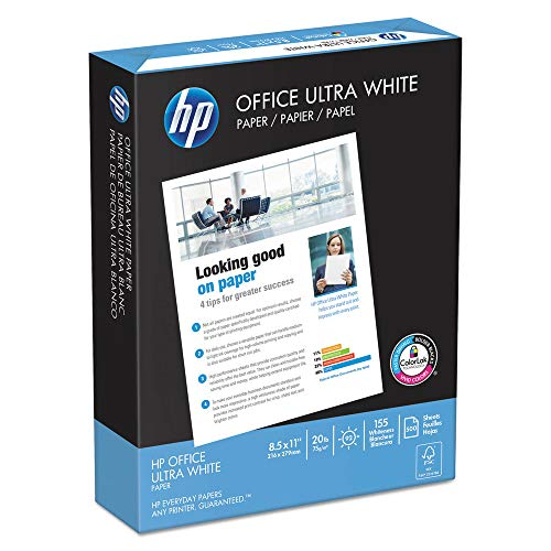 HP Papers 11210-1 Office Ultra-White Paper, 92 Bright, 20lb, 8-1/2 X 11, 500/ream, 10/carton