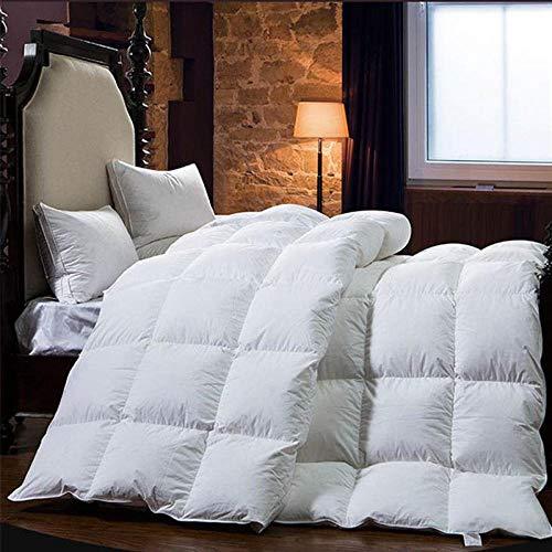 CHOU DAN waterproof duvet protector single,Duvet 95 white goose down winter quilt thickened warm 8 kg single double quilt-180x220cm 4000g_white