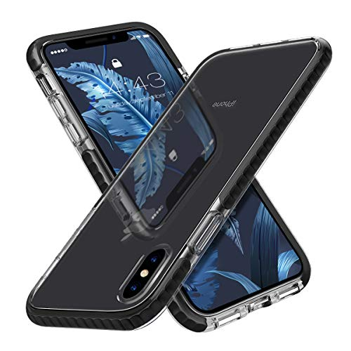 MATEPROX iPhone Xs Case Clear iPhone X Case Clear Thin Slim Anti-Yellow Anti-Scratches Cover Shockproof Bumper Case for iPhone Xs/X 5.8'' (Black)