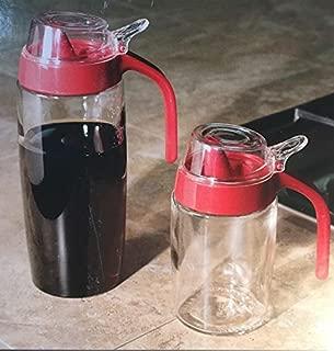 chefs glass syrup dispenser set