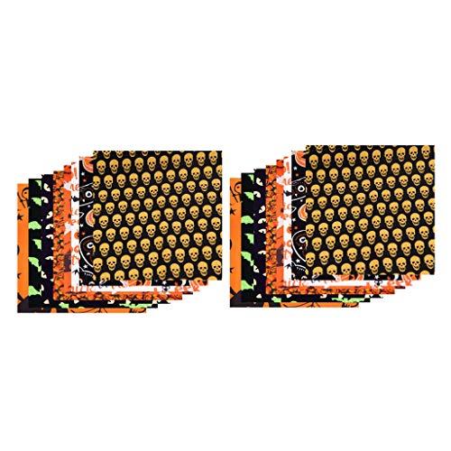 Milageto Paquete de Tela Artesanal de Algodón 16 Cuadrados Patchwork DIY Costura Scrapbooking Acolchado