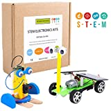 CCinaCiao DIY Robotic Science Kits for Kids, DC Motors Electronic Assembly Kit, Solar Car Kits, STEM Kits for Boys and Girls, Kids Science Experiment Kits(2 Kits)
