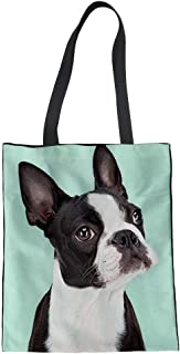 Coloranimal Women's Canvas Shoulder Handbag Cute Animal Dog Printed Tote Bag