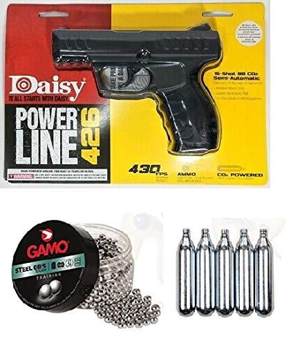 Promohobby Pack Daisy Power Line 426 4,5mm + Lata de 500 perdigones Gamo Steel BB'S (Acero) 4,5mm + 5 Botellas CO2