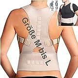 MTEG533 - para la camiseta 'M a L' - médico ortopédico estabilizador de la columna vertebral RECTA NEOPRENO calidad SOPORTE - Respaldo - con correas ajustables y 12 imanes