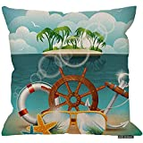 Ducan Lincoln 2pcs 18X18Inch-Summer Holiday Decor Dekokissen Kissenbezug, Hawaii Beach Design mit...