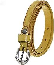 Women's Belt Classic Genuine Leather Belt Casual for Dress Pants Fashion (Color : Blue, Size : M)