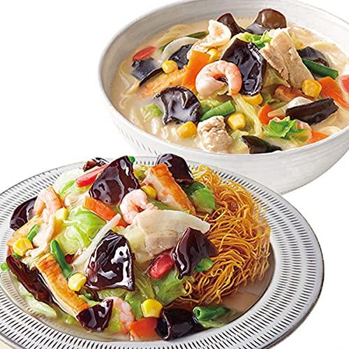 リンガーハット「きくらげ入りちゃんぽん&皿うどん」8食セット/16食セット (16食セット:きくらげ入り皿うどん)