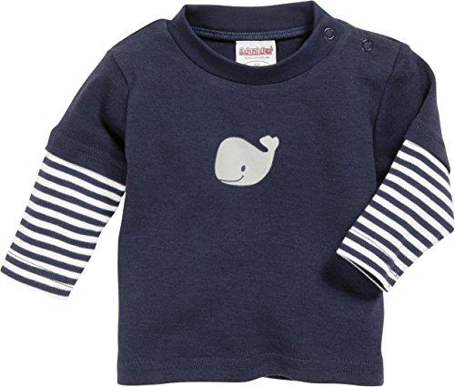 Schnizler Baby-Unisex Sweat-Shirt Interlock Wal Sweatshirt, Blau (Marine/weiß 171), 80