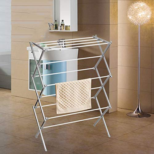 CLOTHES AIRER De Pie Tendedero para La Ropa Plegable 3 Niveles Home and Dry Endedero Bianco Metallo Plastica
