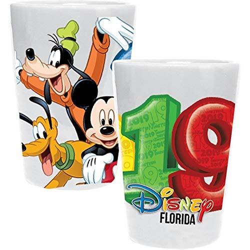 2019 Mickey Group Mickey Goofy Donald Pluto Collection - Vaso de cristal, multicolor (Florida Namedrop)