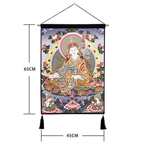 Scroll Schilderij Opknoping Schilderen Decoratieve Tapijt Muur Hangen, Doek Scroll Posters, Chinese Tibetaanse Etnische Stijl Bodhisattva
