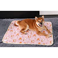MYQXAZ ペットホットブランケット暖房パッド、ペット犬/ペットの猫風邪&パッドヒーターパッドを温め、恒温猫の巣/犬小屋、小型防水電気毛布 (Color : Shiba Inu, Size : L)