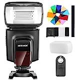 Neewer TT560フラッシュスピードライト 12枚カラーフィルターとIR ワイヤレスリモコン付き Canon Nikon Panasonic Olympus と他のDSLRカメラに対応 ハードディフューザーとマイクロファイバークリーニングクロスも付き