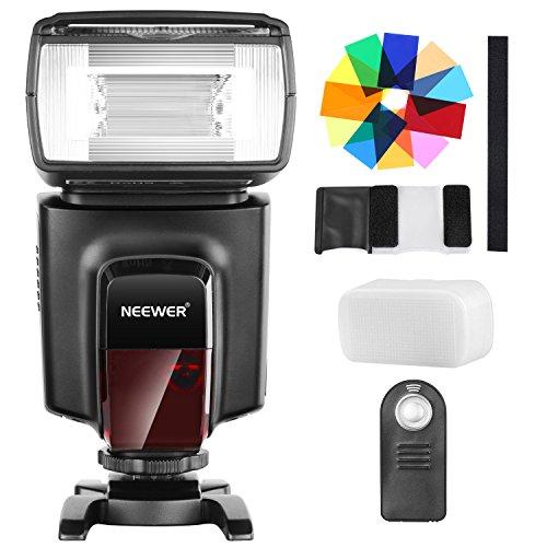 Neewer TT560 Flash Speedlite con 12 Filtri Colori e IR Kit di Telecomando Wireless per Canon Nikon Panasonic Olympus e altre Fotocamere DSLR, Diffusore Duro