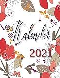 Kalender -2021-: Wochenplaner , Terminplaner und Kalender 2021 - Jahreskalender 2021 mit Feiertagen + Notizen - terminplaner 2021- organizer 2021, im ... Design zum Planen und Organisieren (Deutsch).
