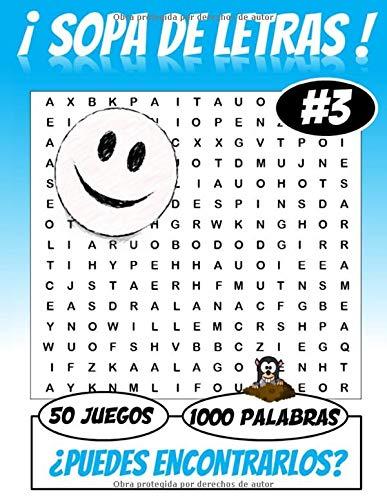 ¡ SOPA DE LETRAS 50 Juegos 1000 palabras ! ¿ Puedes encontrarlos ?: Para adultos | Juegos de palabras | Letra grande | 1000 palabras 50 juegos | Perfecto por el tiempo libre |