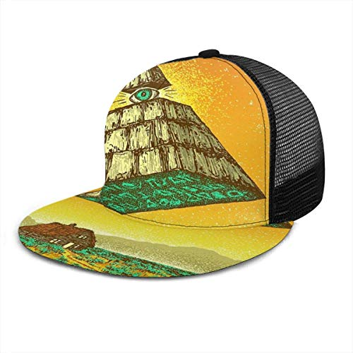 NA Gorra de béisbol Triángulo Pirámide Ojos Village Unisex Sombrero de ala plana Gorras de béisbol
