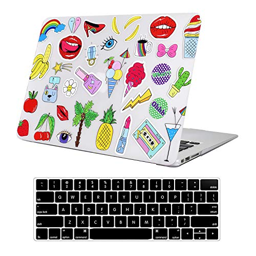 Funut MacBook Pro 13 Inch Case 2015 2014 2013 end 2012 Model A1425/A1502 3D Effect Matte See Through Rubberized Hard Shell Cover+Keyboard Cover for MacBook Pro 13' Retina Non CD ROM,Lipstick