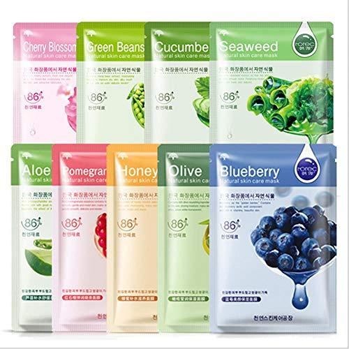 Gurkenmaske, Gesichtsfeuchtigkeitscreme, Anti-Akne-Maske, natürliche Feuchtigkeitscreme, feuchtigkeitsspendendes Nährstoffkonzentrat, beruhigende Haut, dünne feuchtigkeitsspendende Gesichtsmaske(06)