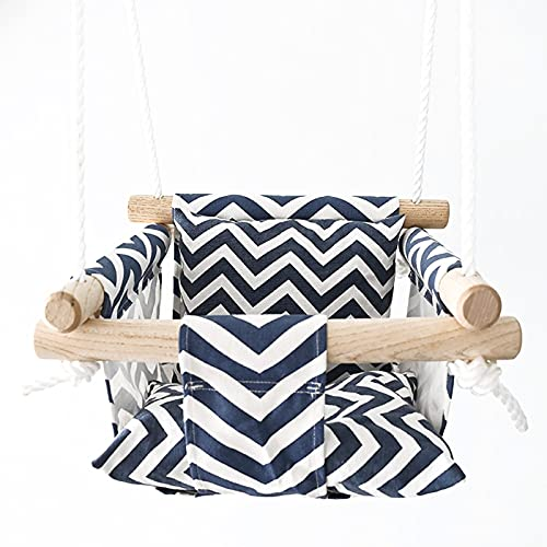 DISHUECO Hamaca lavable para bebés y recién nacidos, con columpio, incluye 2 cojines de asiento, varilla esparcida duradera, silla colgante, para jardín interior o exterior, terraza, patio, dormitorio