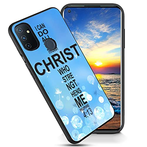 Compatible with OnePlus 9 Pro Case,Soft Frosted TPU Ultra Thin Cover,Shock-Absorption,Anti-Scratch Protective Case for OnePlus 9 Pro 6.7',Bible Verses Philippians 4:13 Design