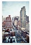JUNIQE® Wolkenkratzer & Hochhäuser New York Poster