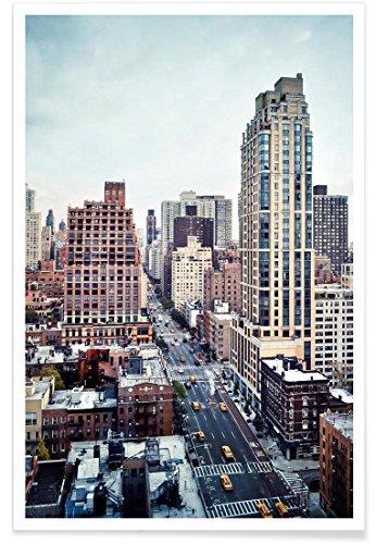 JUNIQE® Wolkenkratzer & Hochhäuser New York Poster 20x30cm