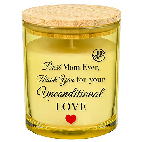Priemier Mom Candle - Best Mom Ever, Thank You for Your Unconditional Love (Vanilla)