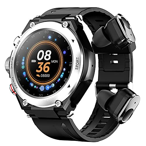 LSQ T92 Smart Watch Men TWS Bluetooth 5.0 Auricular Llamada Música Cuerpo Temperatura DIY Reloj Face Sportwatch Impermeable,C
