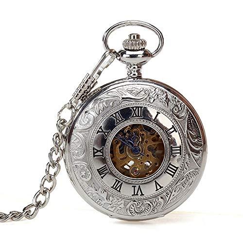 ZHJBD JIAN Pocket Watch, Reloj De Los Hombres Clásicos, Caso del Patrón...