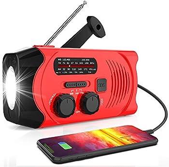 RegeMoudal Emergency Solar Hand Crank Radio