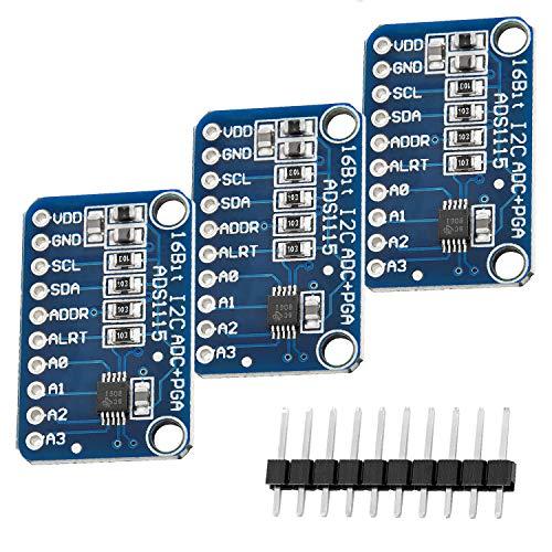 AZDelivery 3 x ADS1115 ADC Modul 16bit 4 Kanäle für Arduino und Raspberry Pi mit eBook