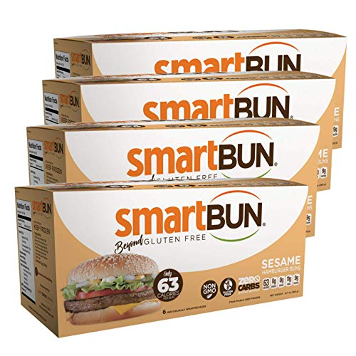 Smart Baking Company Smartbuns, Gluten Free, Sugar Free and Carb Free Buns (Sesame)
