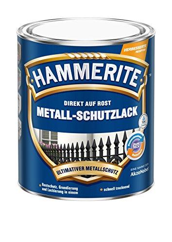 HAMMERITE 5087577 Metallschutzlack Metall-Schutz Rostschutz-Farbe 2in1 glänzend, dunkelgrün, 750ml