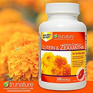 TruNature Vision Complex with Lutein & Zeaxanthin - Great Value Pack of 2 (Total 280Ct Softgel Type) x#vswa