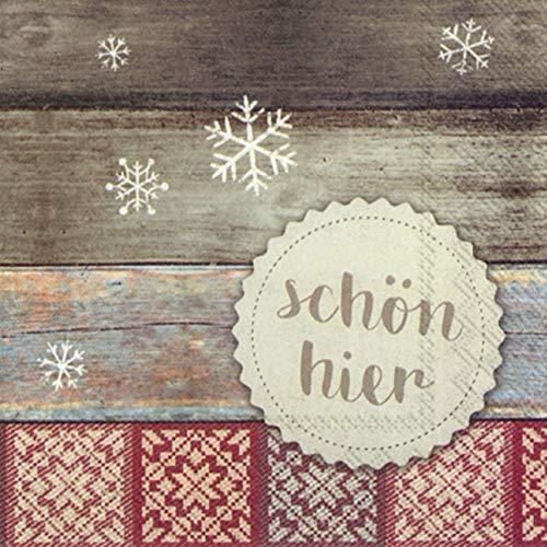 Ihr Winter-Serviette - SCHÖN HIER