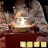 Musique Veilleuse Carrousel | 360°Rotatif Silicone USB | Veilleuse Bébé Portable | 6 Dégradés de Couleur | Grand Choix Pour...