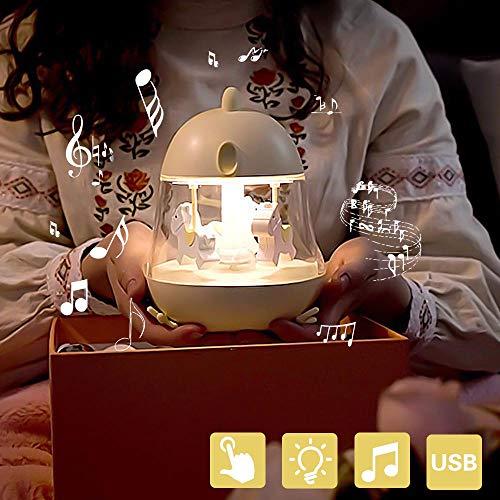 Luz De Noche Led Lámpara De Noche Para Bebés Con Interruptor Táctil Luces De Noche Portátiles De Silicona Caja De Música Para Habitación De Bebé, Dormitorio, Sala De Estar, Camping, Picnic