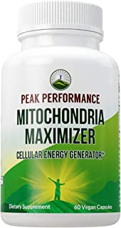 Mitochondria Maximizer with CoQ10 and Active PQQ. Best Mitochondrial Support Supplement with MCT Oil. Natural Cellular Gen...