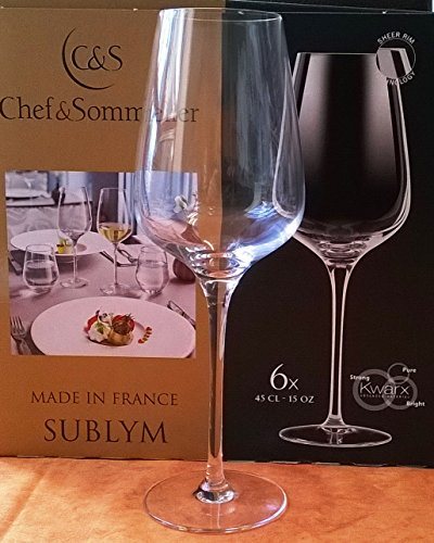 Chef & Sommelier 6 Weingläser SUBLYM 45 cl mit Eichstrich 0,2
