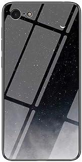 جراب Mylne Glass لهاتف iPhone 6 Plus/6S Plus، جراب خلفي صلب من الزجاج المقوى من سلسلة Sky Series 9H مع إطار من السيليكون ا...